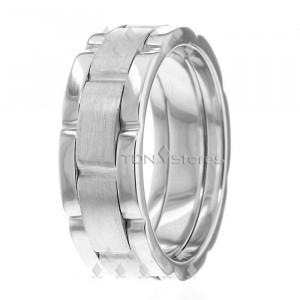 Watch Link Inspired Wedding Rings Link Design Wedding Bands TDN