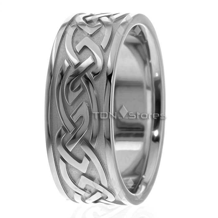 Mens Womens Celtic Knot Wedding Rings 9mm Tdn Stores