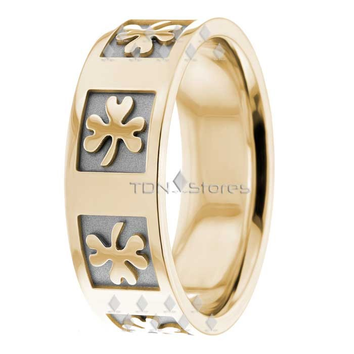 four p love women rings clover heart leaf beautiful color for gold