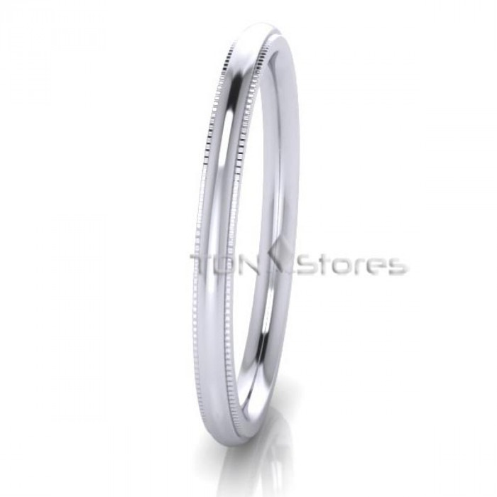 Traditional Dome Milgrain Wedding Ring Tdn Stores