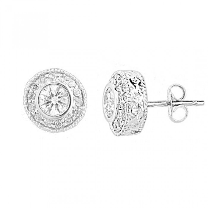4dadc2359 Bonnie Halo Diamond Stud Earrings - TDN Stores