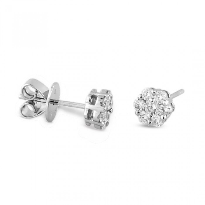 bb7b0f06f Carly Diamond Stud Earrings With Friction Back - TDN Stores