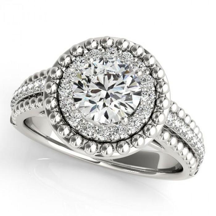 E2825753 Engagement Ring, 0.34 Ctw. Diamond Side Stones - TDN Stores